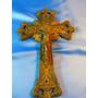 El Arcon Crucifijo Cruz Con Jesus De Metal Marca L Y F 51060