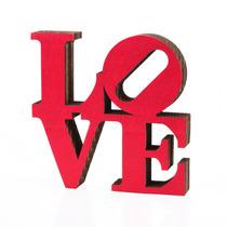 Figura Decorativa Love Carton Prensado Y Cuero Living Morph
