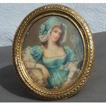 Historical*-petit Retrato Francés Óleo Sobre Impresión-envío