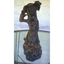 Estatua De Ceranica Mujer Embarazada