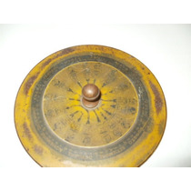 Antiguo Calendario Veterinario 13 De Diametro Muy Raro
