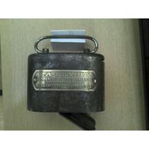 Porta Momedas Antiguo,hierro Y Bronce