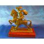 El Arcon Antigua Figura De Bronce Jinete Con Caballo 10050
