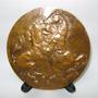 Gran Medalla Escultura Francesa Relación Hombre - Caballo