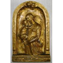 Escultura Bronce Mater Dei Siglo 19 Firmada Jeanne J. Tasse