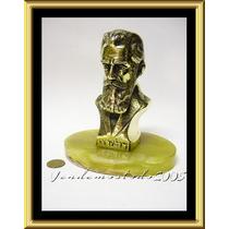 Busto Bronce Pulido Theodor Herzl Fundador Sionismo Israel