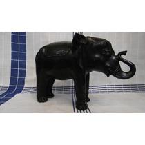 Antiguo Elefante De Bronce Hindu Con Patina Verde Oscura.