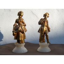 Hist.*- Antigua Pareja Romántica Figuras Petitbronce -envío