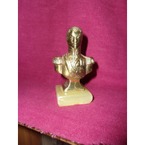 Antiguo Busto Macizo De Bronce Del Gral.san Martin De Escrit