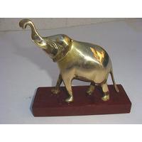 Elefante De Bronce Antiguo Y De Los Grandes C Base De Madera