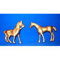 Antiguos Caballitos-caballo De Bronce-en La Plata