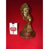 Indio - Magnifico Y Decorativo Busto En Pesado Bronce Macizo