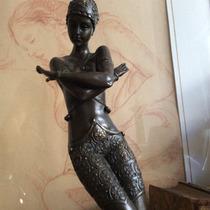 Escultura Art/deco Bailarina Bronce Firmada