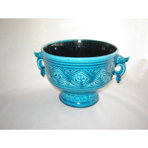 Cachepot Ceramica Blue Turquoise Impecable