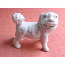 Perro De Fo En Ceramica Blanca Excelente Unico