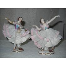 Antiguas Bailarinas En Ceramica Con Detalles