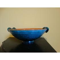 Centro De Mesa En Ceramica Esmalta Italiana