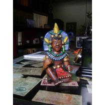 Antigua Figura De Guerrero Maya En Ceramica De Mexico