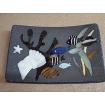 Placa De Ceramica Estilo Deco Motivo Peces