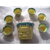 Antiguo Juego De Compoteras De Ceramica