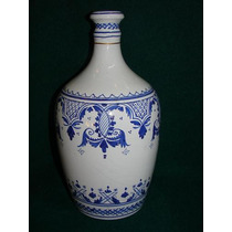 Botella Pintada Amano Azul Italiana Circa 1912