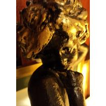 Enorme Escultura Antigua Art Nouveau Grabada En Terracota