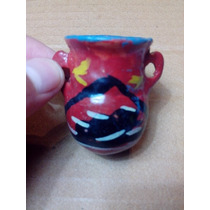 Pequeña Vasija De Ceramica Artesanal Indigena Colección