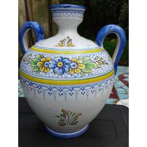 Antiguo Potiche Ceramica Talavera