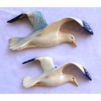 Monijor62-dos Antiguas Gaviotas En Ceramica Inglesa Beswick