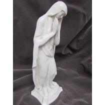 Virgen En Ceramica Esmaltada Art Deco 32 Cm