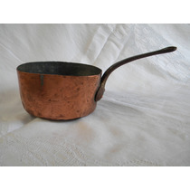 Autentica Olla Colonial Cobre Sellada