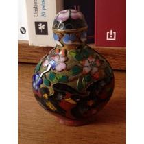 Antigua Snuff Bottle Realizada Esmalte Cloisonne China Aves