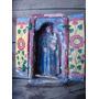 Antiguo Retablo Talla San Antonio Y Niño Dios. Sin Virgen
