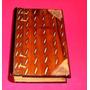 Antigua Caja De Madera Tallada Simula Un Libro -la Plata