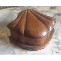 Antigua Caja Victoriana Tallada A Mano En Nogal Macizo