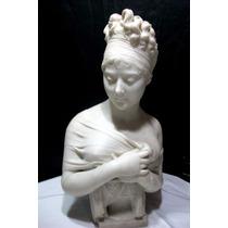 Antigua Escultura De Marmol De Pietro Bazzanti 1825-1895