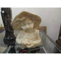 Figura De Niña En Alabastro, Única Y Bella