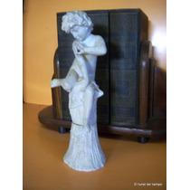 Figura De Alabastro Firmada A Restaurar 30 Cm De Altura
