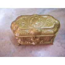 Antiguo Cofre Alhajero Peltre Vintage