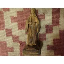 Antigua Imagen Religiosa Popular Virgen Santa Maria Madera