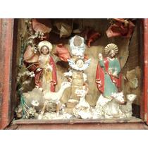 Retablo Imagen Religiosa Popular Cristo Jesus Madera