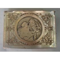 Gran Caja Alhajero Metal Francesa Wicker Firmada