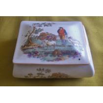 Antiguo Alhajero Porcelana Japón Sellado - Subasta No Envío
