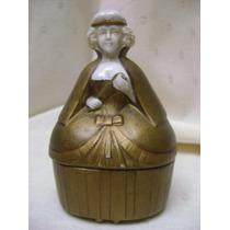 Antigua Caja-alhajero De Porcelana Con Forma De Mujer.