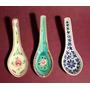 Antiguo Trío De Cucharitas- Porcelana Japonesa -de Colección