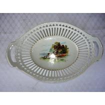Monijor62- Antigua Canasta Calada De Porcelana Alemana 29 Cm