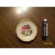 Antiguo Platito Miniatura Porcelana Limoge Frances Sellada