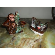 Antiguos Palillero Y Carocero.monos Y Pez.microcentro-avella