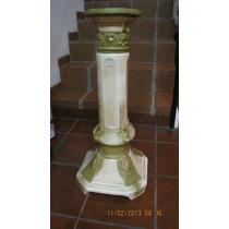 Antigua Base Columna De Porcelana Faiance