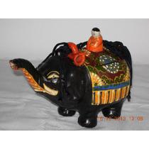 Hermosa Tetera Elefante De Porcelana Oriental Bellos Coleres
